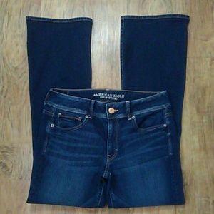 AEO Kick Boot Super Stretch Jeans Size:12